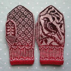Ravelry: Project Gallery for Songbird Mittens pattern by Erica Heusser Crochet Mittens, Mittens Pattern, Knitted Gloves, Knit Crochet, Knitting Charts, World Best Photos, Fiber Art, Stitch, Ravelry