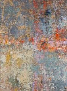 Abstract painting, art, One Encounter, Oil and Pigment, 40 X 30 in.