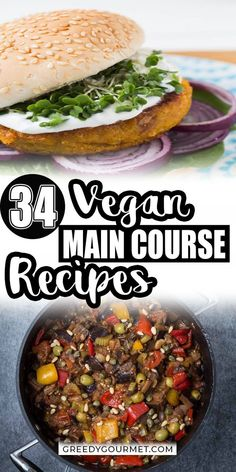 Get to choose from this vast selection of vegan recipe options to give you the ultimate satisfaction to find one tasty vegan recipe after another. Healthier than ever, these body-detoxifying recipes are really exciting as non-vegan food as you experiment with the different flavors and spices. #vegan #veganrecipes #maincourse #veganmaincourse #maincourserecipes #healthyrecipes Entree Recipes, Lunch Recipes, Gourmet Recipes, Beef Recipes, Dinner Recipes, Dinner Ideas, Delicious Vegan Recipes, Tasty, Healthy Recipes