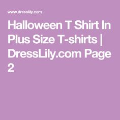 Halloween T Shirt In Plus Size T-shirts | DressLily.com Page 2