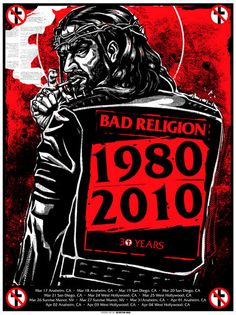 Bad Religion. 2010 Tour. | Munk One.. i love listen to them. Anti-Religion lyrics. i love and believer of God but No to man made religion laws!. #punk #hardcore #AntiReligion