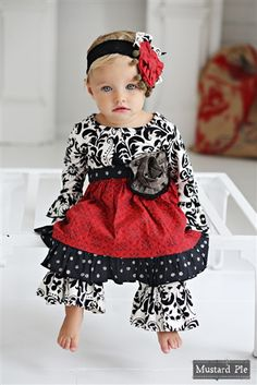Mustard Pie Enchanted Olivia Dress Set Newborn ONLY (Girls Christmas Dresses). This item is a final sale. Little Girl Outfits, Little Girl Fashion, Kids Outfits, Kids Fashion, Fashion Outfits, Girls Boutique Dresses, Baby Girl Dresses, Holiday Dresses, Holiday Outfits
