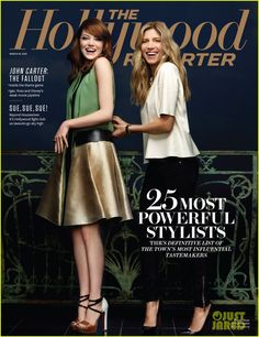 Emma Stone and stylist Petra Flannery take the cover of The Hollywood Reporter's Style issue