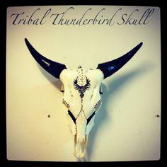 Tribal Thunderbird Skull by Shikoba