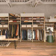 Closet Storage, Closet Organization, Muji Storage, Closet Space, Walk In Closet, Muji Home, Room Interior, Interior Design, Dresser Top