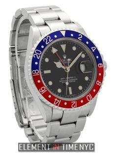 #Rolex GMT-Master II  Red/Blue Pepsi Bezel Error Dial D Serial 16710 T ($6,625.00)