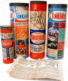 Vintage TInker Toys.