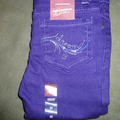 Girls 2 Y, Arizona, JCP purple skinny jeans Purple jeans Arizona Bottoms Jeans Purple Skinny Jeans, Toddler Jeans, Fashion Tips, Fashion Design, Fashion Trends, Arizona, Shop My, Best Deals, Womens Fashion