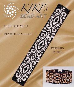 """Pattern, peyote bracelet """"Delicate arch"""" peyote bracelet pattern in PDF instant…"""