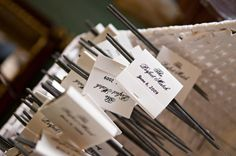 Wedding favor idea: sparklers and personalized matchbook