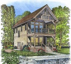 This victorian design floor plan is 896 sq ft and has 2 bedrooms and has bathrooms. Vintage House Plans, Modern House Plans, Small House Plans, House Floor Plans, Rustic Stairs, House With Balcony, Stairs Architecture, Villa, Country Style House Plans