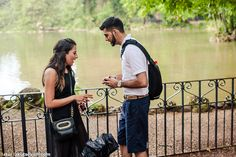 Surprising engagement in Rome Pallavi