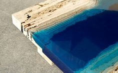 Serenity Now! Blue Lagoon Coffee Table Made of Marble & Resin Serenity Now, Resin Table, Grid Design, Design Art, Conceptual Design, Blue Lagoon, Minimalist Home, A Table, Furniture Design