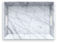One Kings Lane Carrara Handled Melamine Serving Tray - White