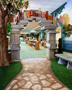 Brentwood Public Library (Tennessee) Entry to Children's area. Very storybook-like. Photo: © Kyle Dreier Photography