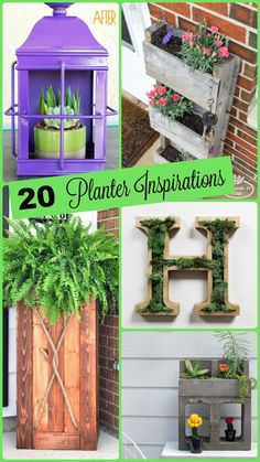 20 Unique Summer Planters http://aproverbs31wife.com/20-unique-summer-planters/ Perfect for upcycling, creating and designing!