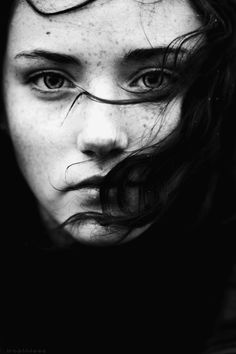 Those eyes... She looks dull, blank, dark. As if she's seen the darkness of the world for what it truly is.