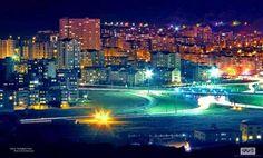 A night view of Tabriz city, East Azarbaijan province of Iran