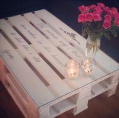 pallet coffee table with glass top – 12 DIY Antique Wood Pallet Coffee Table Ide… - Interior Decoration Accessories coffee tables Pallet Crafts, Pallet Ideas, Diy Home Decor, Room Decor, Diy Casa, Pallet Creations, Diy Pallet Furniture, Furniture Ideas, Furniture Storage