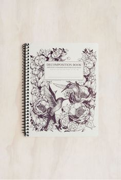 Decomposition - Spiral Bound Notebook - Large (19x25cm) - Ruled - Hummingbirds
