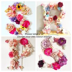 "12"" Custom Flower Hanging Initials/Numbers 