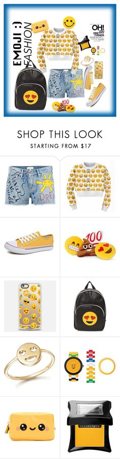 """emoji style"" by jus2damnsxc on Polyvore featuring Mira Mikati, Throwboy, Casetify, Bing Bang, Lego, Anya Hindmarch, Illamasqua and Hollywood Mirror"