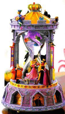 Disney Snowglobes Collectors Guide: Sleeping Beauty Hourglass Snowglobe