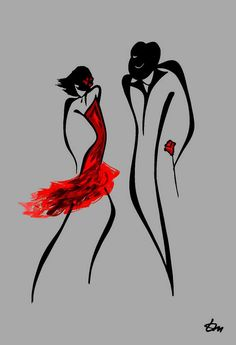 ♥ by Russian Minimalist artist Tatyana Markovtsev. Tatyana is able to express powerful and complex human feelings via just a few elegant lines, and she does this without ever drawing faces. Please see more of Tatyana's art at http://www.feeltheline.com