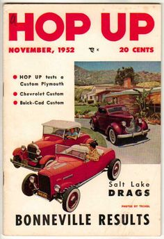 Hop Up November 1952 Old Vintage Car Magazine Classic Custom Hot Rod Drag Racing
