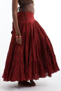 FLAMENCO SKIRT wrap Skirt junk GYPSY skirt by GekkoBoHotique, £65.99
