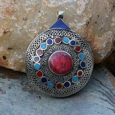 Afghan filigree pendant - look4treasures on Etsy