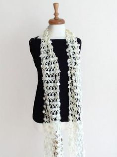This scarf is knitted by me to keep you warm in the cold winter days.. Hope you like it ...