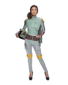 Star Wars Boba Fett Jumpsuit Adult Womens Costume - Spirithalloween.com