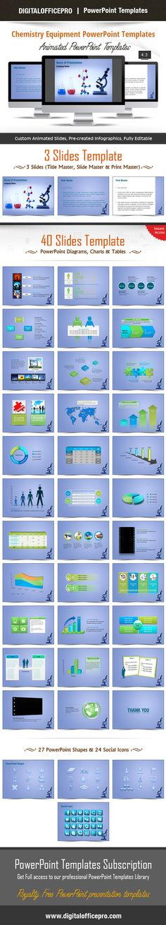 Chemical Analysis PowerPoint Templates Chemical Analysis - chemistry chart template