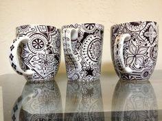 Handdecorated Mug by CraftsForGuatemala on Etsy, $12.00