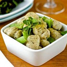 Basil and garlic gnocchi - vegan and gluten free