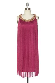 Dapper as a Flapper Dress in Raspberry | Vintage, Retro, Indie Style Dresses