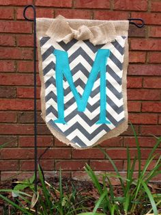 Chevron Monogrammed Garden Flag By Vandynest On Etsy, $25.00