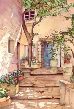 Read Phong cảnh from the story stock gallery by -rkfawnn (fawnnie) with reads. Art Anime, Scenery Wallpaper, Anime Scenery, Fine Art, Aesthetic Art, Watercolor Paintings, Watercolours, Fantasy Art, Cool Art