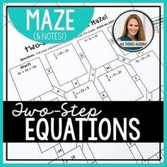 Are you middle schoolers working on two-step equations? The answer for one problem leads students to the next and so on! A fun alternative to traditional drills. :: www.thriftyhomeschoolers.com