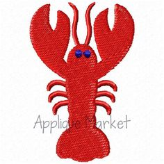 Machine Embroidery Design Applique Lobster Mini by tmmdesigns