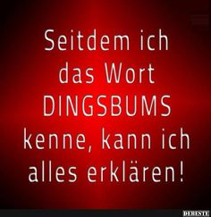 since i know the word DINGSBUMS i can explain everything Take A Smile, German Quotes, Learn German, Soul Quotes, Magic Words, Wise Words, Funny Pictures, Funny Pics, Funny Quotes