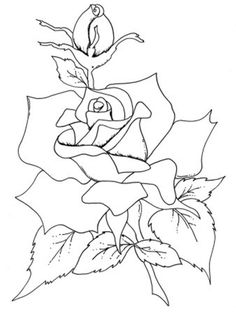 flower coloring roses flowers coloring pages - Rose Coloring Pages