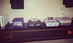 Shared by mattybrigs96 #supernintendo #microhobbit (o) http://ift.tt/2eXsZAr evolution of Nintendo. #NES #SuperNintendo #N64 #Gamecube #Wii #Nintendo