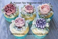 Made in Russia / Russian Tips / Tips for cream Create stunning buttercream flowers, So quick & easy by Deco-Cake, Russian Tips Roses Russian Cake Decorating Tips, Cake Decorating Tutorials, Russian Piping Tips, Russian Cakes, Cake Online, New Cake, Fashion Cakes, Gluten Free Baking, Confectionery