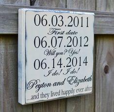 Wedding Sign, Personalized Wedding Gift, Engagement Gift, Anniversary Gift, Wedding Gift, Important Date Custom Wood Sign - Edwardian