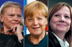 Ginni Rometty, Angela Merkel, Mary Barra
