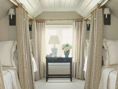 Attic bunks...just love this space!