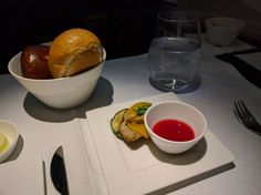 On my recent weekend trip to Bangkok, I was able to test Qatar Airways' superjumbo for the first time. Business Class, Doha, Bangkok, Snacks, Appetizers, Treats, Finger Food