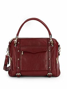 adb95ac8c8d2 Cupid Leather Studded Satchel Rebecca Minkoff Handbags